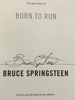 "*RARE* Bruce Springsteen SIGNED Book ""Born to Run"" with Personal PROOF"