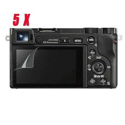 5X New Clear LCD Screen Protector Guard Film for sony a6500 a6300 a5100 NEX7 6 5