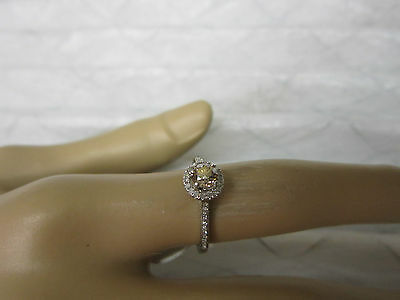 Gorgeous 14 Kt Gold .64 Ctw Fancy Pink Champagne Diamond Ring !!!!!!!!!!
