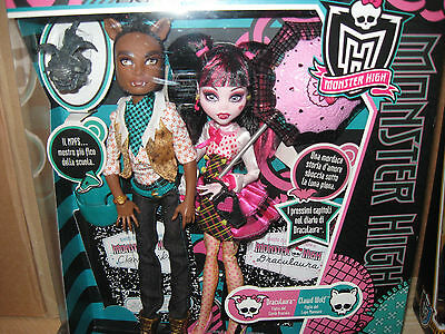 Monster High Draculaura Clawd Wolf Doll Puope Rare Nrfb