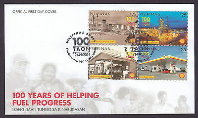 Philippines Stamps 2014 Shell Oil Refinery Centenary FDC, Makati cancel