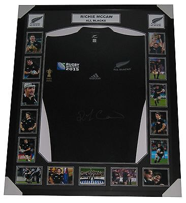 Richie McCaw Signed jersey All Blacks 2015 World Cup Memorabilia FRAMED
