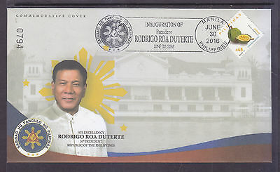 Philippines Stamps 2016 President Duterte Inauguration Limited Edition FDC