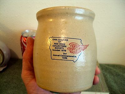 Iowa Chapter Red Wing Collectors ICE WATER Cooler 1995 Mini Crock Only