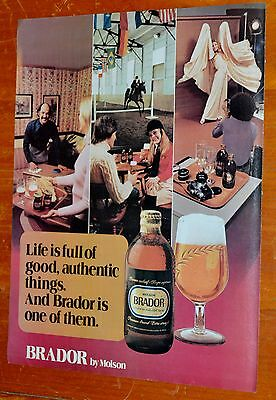 French 1975 Molson Brador Beer Canadian 80S Ad - Anonce Biere 70S Vintage