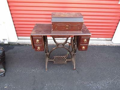 Antique Singer Fiddle Base with Stand - NO RESERVE