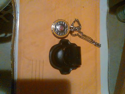 Harley Davidson  Pocket Watch With Leather Harley Case Absolute Sale