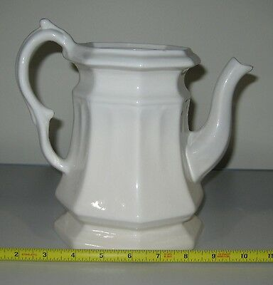 VINTAGE UnMarked WHITE PITCHER Crafts Paint
