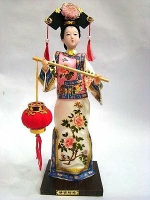 Oriental Broider Doll,Chinese Old style figurine China doll statue