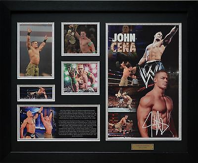 John Cena Limited Edition Framed Memorabilia New