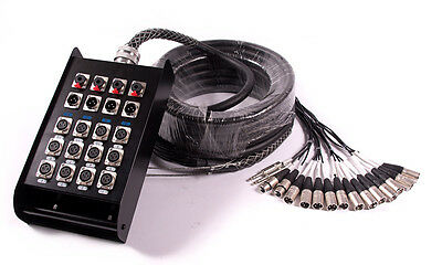 Multicore Cable w/ Stage Box - 16 Channels | 12 Send + 4 Return - 8m