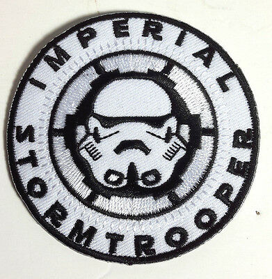 """Star Wars Imperial Stormtrooper Round Patch 3"""" FREE S&H (SWPA-1001)"""