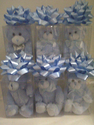 It's A Boy Bears In Gift Box, Blue, 6 Pieces , Brand New