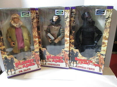"Kenner 1998 Lot Of Three Planet Of The Apes 12"" Boxed Sealed Action Figures"