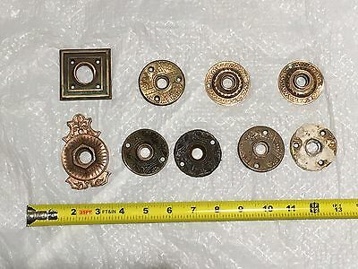 Lot of Damaged Brass Rosettes Repurpose Antique Hardware Ships Free