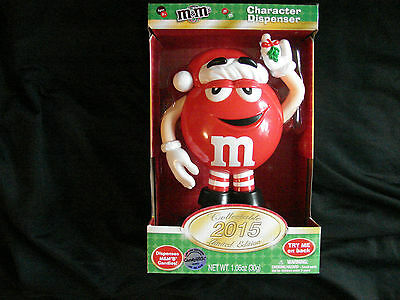 2015 Limited Edition M&M's Red Character Christmas Candy Dispenser - NIB