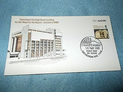 HIGH COURT BUILDING Canberra 1980. First Day of Issue. Geeveston 7116