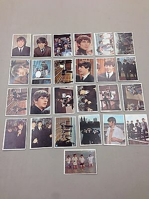 1964 Topps BEATLES COLOR 25 card LOT
