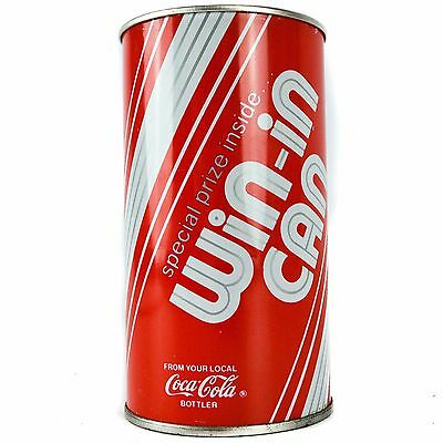 Win-In Can Coca Cola Can Coke Mystery Prize Vintage 12oz