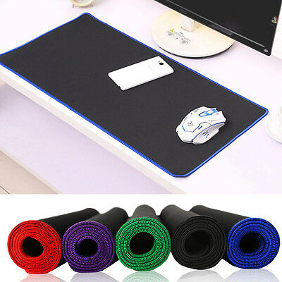 Black Extended Mouse Mat Pad Lengthened 2.5mm Thick Non Slip Foam 300*600mm NEW