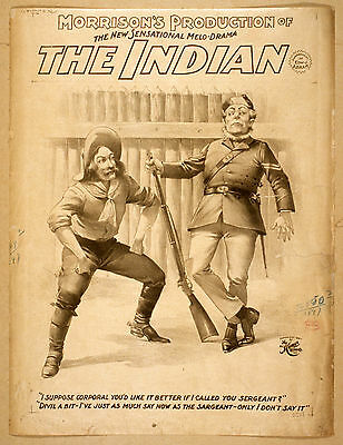 Photo Print Vintage Poster: Stage Theatre Flyer The Indian 02