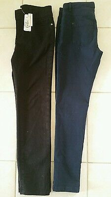 girls size 14 new black jeans and blue jeans