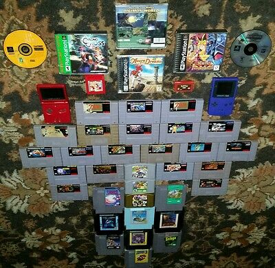 Lot of SNES Games * Lot of N64 Games * Lot of NES Games * Lot of Ps1 * GameBoy