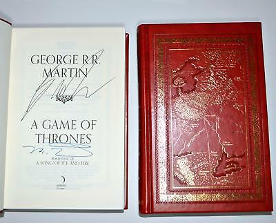 A GAME OF THRONES George RR Martin Gilded Edge LEATHER Slip Case LIMITED EDITION