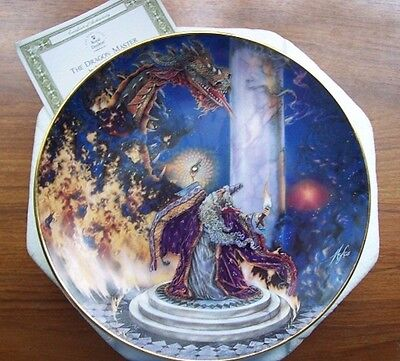 The Dragon Master Plate by ROYAL DOULTON, FRANKLIN MINT Myles Pinkney