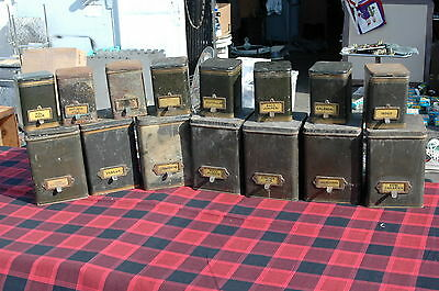 Lot Of 15 Phenix Herb Can Pharmacy Apothecary Tins Whitall Tatum Co