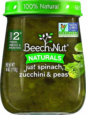 Beech-Nut Stage 2 Baby Food, Spinach/Zucchini/Peas, 4 Ounce (Pack of 10) AOI