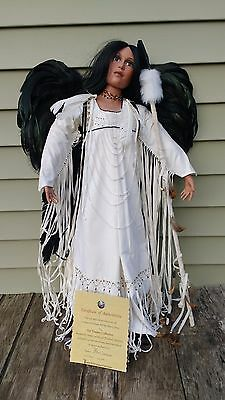 """Timeless Collection Dark Angel Native American Style Doll Ltd Ed 30"""""""