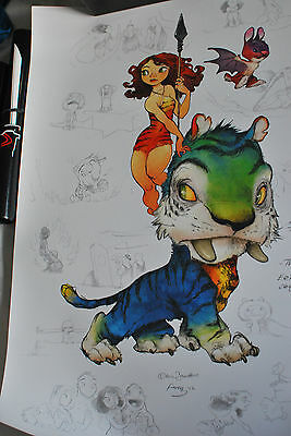 The CROODS SDCC POSTER Chris Sanders Alan Fong PRINT