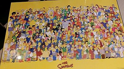 simpsons 1998 character poster board