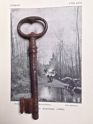Large Old Antique French Key Rustic Chateau /Gate /Barn