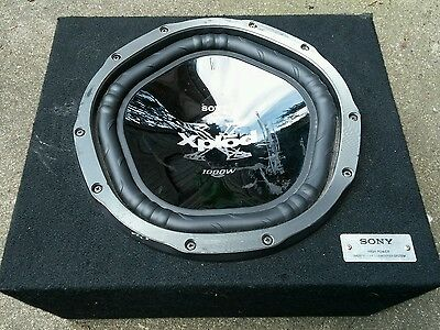 """Sony Xplod 12"""" 1000W subwoofer and enclosure"""