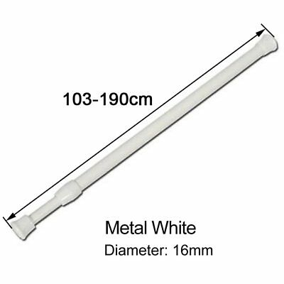 103-190cm Metal Spring Loaded Extendable Voile Net Curtain Tension Rod Pole Rail