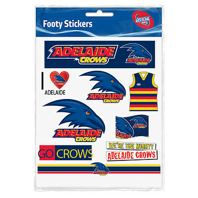 Adelaide Crows AFL Sticker Stickers Sheet **AFL OFFICIAL MERCHANDISE**