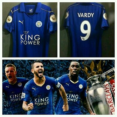 Maglia Leicester City 2016/2017 Vardy Mahrez Drinkwater Jersey Soccer Premier