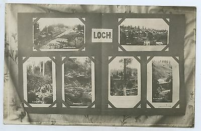 1908 Rp Npu Postcard Cameos Of Loch Railway Station & Town Gippsland Victoria Y5