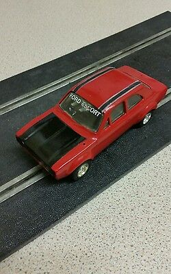 Mk1 ford escort Mexico  rat race re painted red scalextric slot car c052