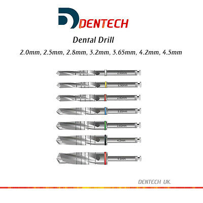 Implant Drills Drill External Irrigation Dental Surgery Instruments Ce 7 Sizes