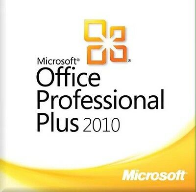Microsoft Office Professional Plus 2010 Key W/Scrap and Download link Genuine