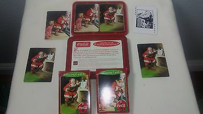 Coca Cola Collectible Tin And Two Decks Of Playing Cards