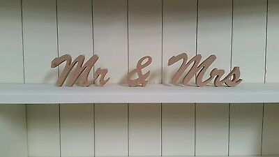MR & MRS wooden letters/ wedding top table decoration/ mr & mrs sign MR AND MRS