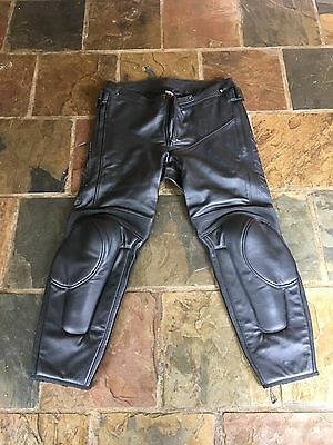 Mens Leather Motorbike Pants Dainese size 60
