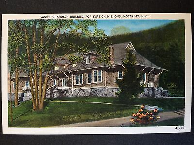 Montreat, N.carolina C.1940 Postcard Richardson Building For Foreign Missions-2