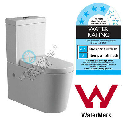 Back to Wall Toilet Suite Bathroom S or P TRAP Soft Close Seat High End Ceramic