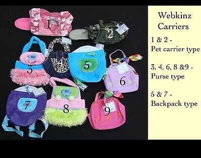 New Webkinz Pet Carrier & CODE! 4 Diff Prints To Choose From! Pet Carrier/Purse!