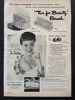 Vintage 1953 Ad (Mc10)~Lux Toilet Soap And Beauty Brush